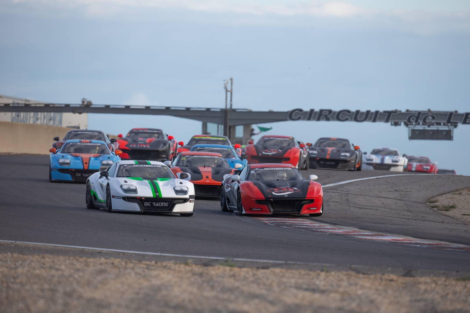 Départ de la Ligier JS Cup France à Lédenon